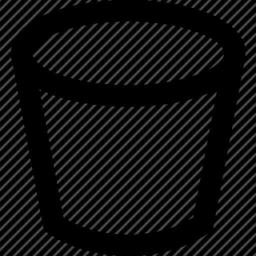 bucket, liquid, metal, storage, water icon