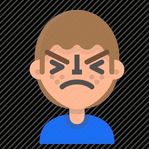atonished, avatar, emoji, emoticon, face, man, profile icon
