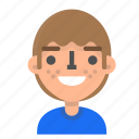 avatar, emoji, emoticon, face, gald, man, profile icon