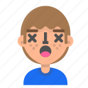 avatar, emoji, emoticon, face, lifeless, man, profile icon