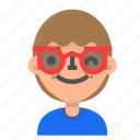 avatar, emoji, emoticon, face, man, profile, sunglasses icon