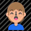 emoticon, profile, face, avatar, man, surprised, emoji