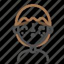 avatar, emoji, emoticon, face, in, kiss, line, man icon