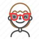 avatar, emoji, emoticon, face, line, man, sunglasses icon