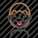 avatar, emoji, emoticon, face, line, man, tongue3 icon