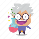 boy, emoji, science icon