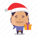 boy, christmas, emoji icon