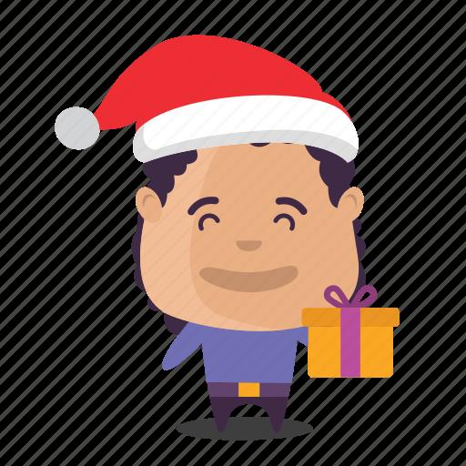 boy, christmas, emoji icon
