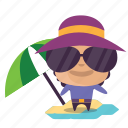 boy, emoji, summer icon