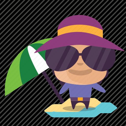 boy, emoji, summer icon