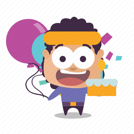 birthday, boy, celebrate, emoji icon