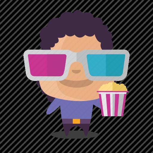 boy, cinema, emoji, movies, popcorn icon