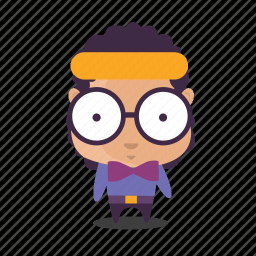 boy, emoji, geek, smart icon
