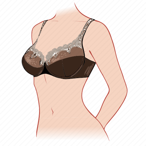 body, bra, cup, full, woman icon