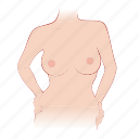 big, body, bra, breast, woman icon