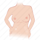 body, bra, breast, pregnancy, pregnant, woman icon