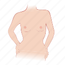 body, bra, breast, breasts, small, woman icon