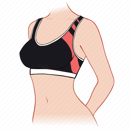 body, bra, sport, woman icon