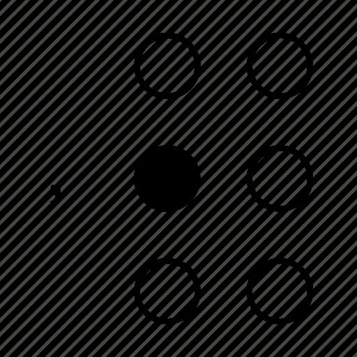 braille, comma, dot, language, sign icon