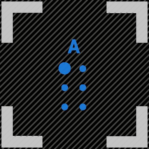 a, alphabet, braille, letter icon