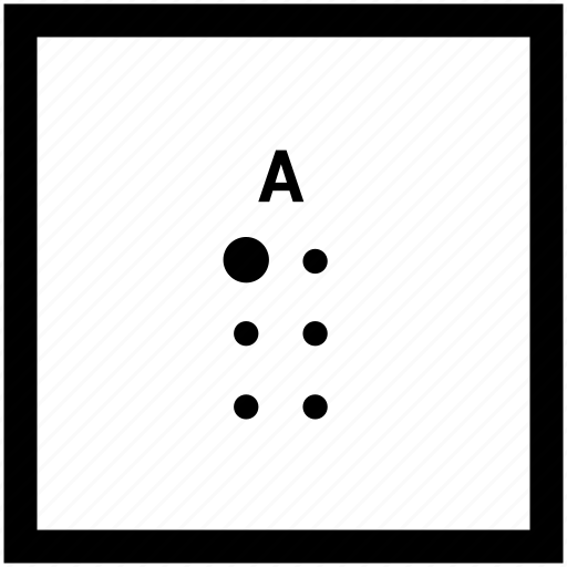 A, alphabet, braille, letter icon - Download on Iconfinder