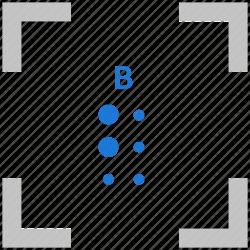 alphabet, b, braille, letter icon