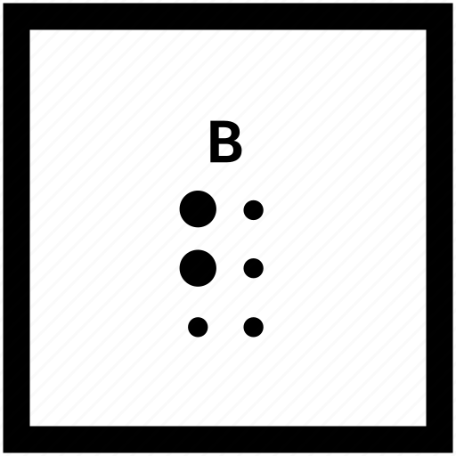 Alphabet, b, braille, letter icon - Download on Iconfinder