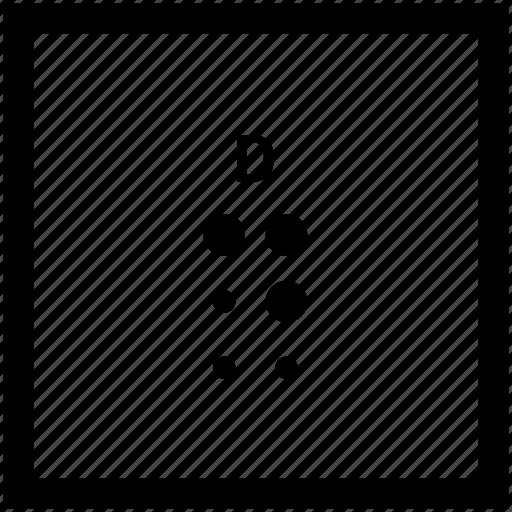 Alphabet, braille, d, letter icon - Download on Iconfinder