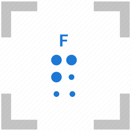 alphabet, braille, f, letter icon