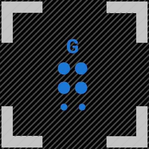 Alphabet, braille, g, letter icon - Download on Iconfinder