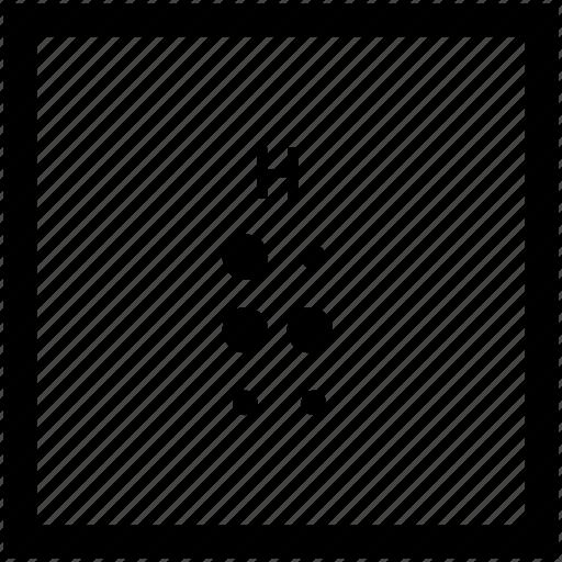 alphabet, braille, h, letter icon