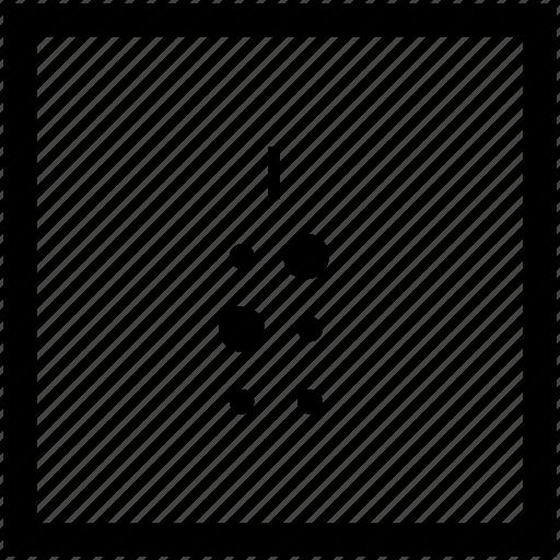 alphabet, braille, i, letter icon