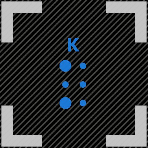 Alphabet, braille, k, letter icon - Download on Iconfinder