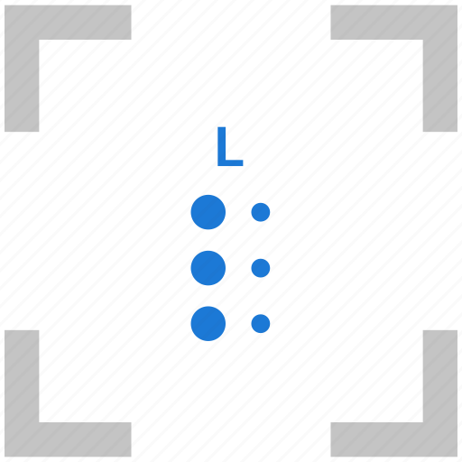 alphabet, braille, l, letter icon