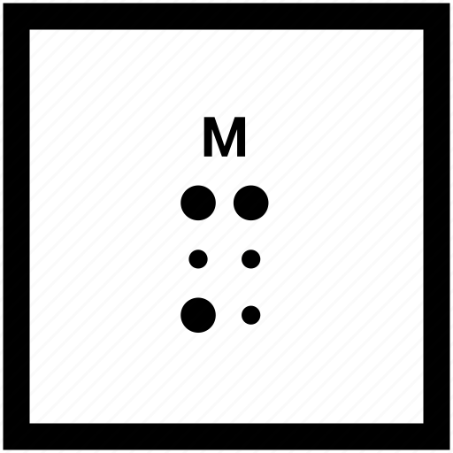 Alphabet, braille, letter, m icon - Download on Iconfinder