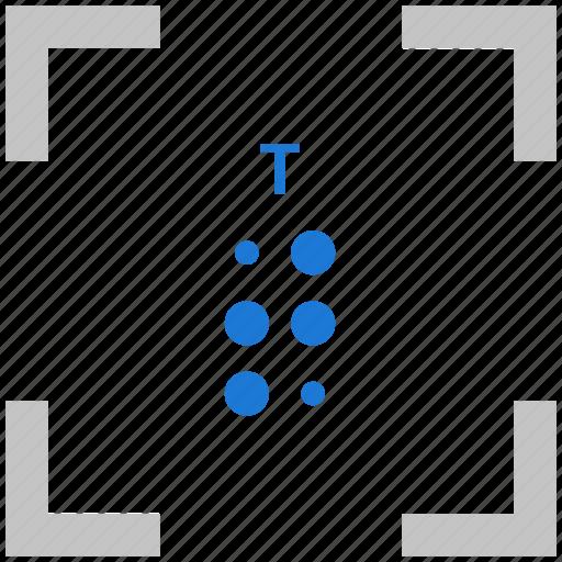 alphabet, braille, letter, t icon