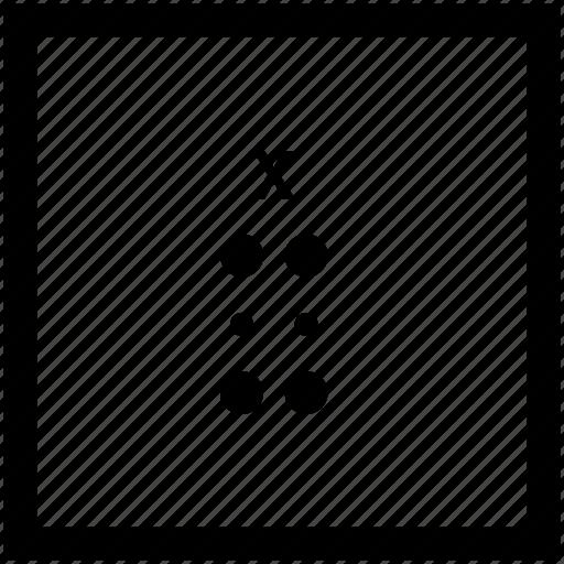 Alphabet, braille, letter, x icon - Download on Iconfinder