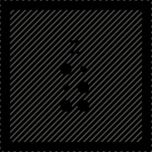 alphabet, braille, letter, z icon