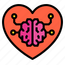 brain, knowledge, thinking, heart, imagination, inspiration icon