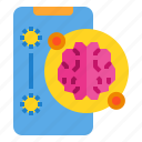 brain, imagination, inspiration, knowledge, smartphone, thinking