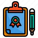board, check, clipboard, list, pad, price, trophy icon