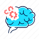 alzheimer, brain, dementia, difficulty, disease, problem, solving icon