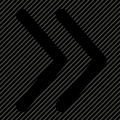 arrow, creative, double, files, forward, move, strategic icon