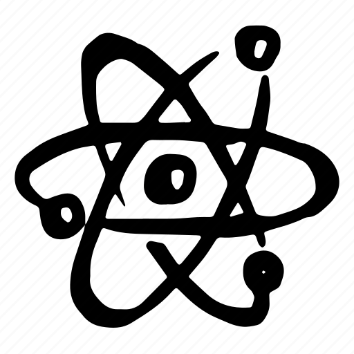 atom, education, hand-drawn, lab, laboratory, learning, physics, science, study, universe icon