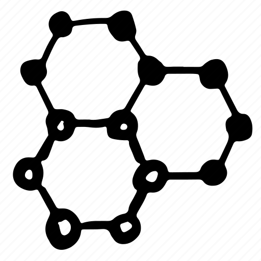 chain, hand-drawn, matter, molecule icon