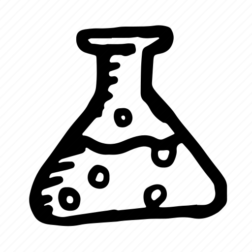 chemistry, flask, hand-drawn, lab, laboratory, medical, medicine, poison, potion, research, science icon