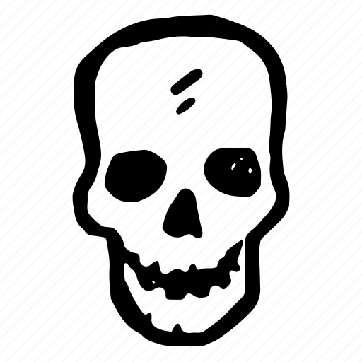 avatar, bones, dark, dead, death, evil, face, halloween, hand-drawn, head, horror, monster, monsters, scary, shape, sign, skull, smile, spooky icon