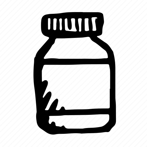 aid, bottle, container, cure, drug, drugs, hand-drawn, health, jar, medical, medicine, pharmaceutical, pills, poison, vial icon