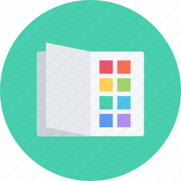 book, brand, branding, color, design, designer, typography icon