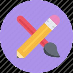 brand, branding, design, designer, pencil, ruler, typography icon